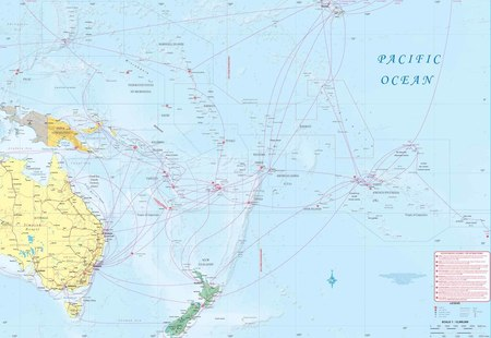South Pacific Cruising & Samoa mapa ITMB 2020 (2)