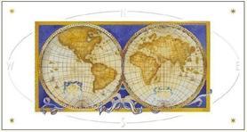 Karnet Mapa Świata DaVinci 12x23 cm + koperta