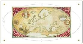 Karnet Mapa EUROPY DaVinci 12x23 cm + koperta