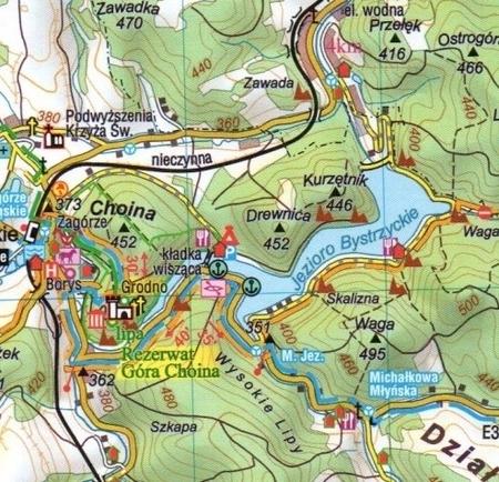 GÓRY BYSTRZYCKIE ORLICKIE STOŁOWE MASYW ŚNIEŻNIKA mapa turystyczna CARTOMEDIA  (4)