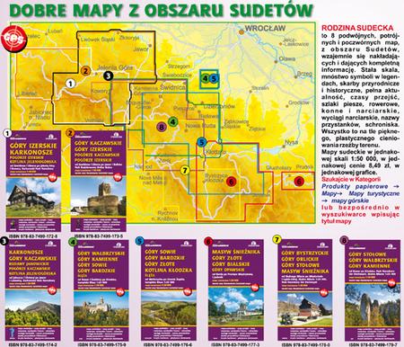 GÓRY IZERSKIE KARKONOSZE POGÓRZE IZERSKIE KOTLINA JELENIOGÓRSKA mapa turystyczna SYGNATURA/CARTOMEDIA (4)
