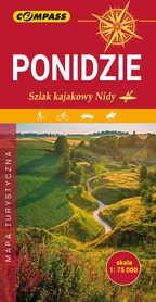 PONIDZIE Spływ Kajakowy Nidą mapa laminowana 1:75 000 COMPASS 2019