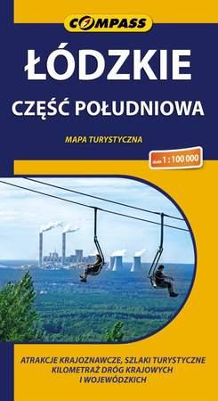 ŁÓDZKIE CZĘŚĆ POŁUDNIOWA mapa turystyczna 1:100 000 COMPASS (1)