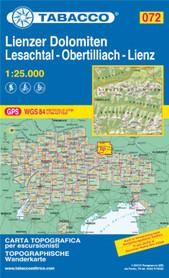 072 LIENZER DOLOMITEN LESACHTAL OBERTILLIACH mapa turystyczna 1:25 000 TABACCO