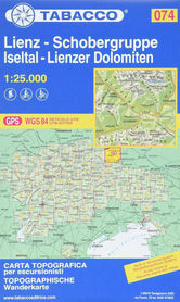 074 LIENZ SCHOBERGRUPPE ISELTAL LIENZER DOLOMITEN turystyczna 1:25 000 TABACCO
