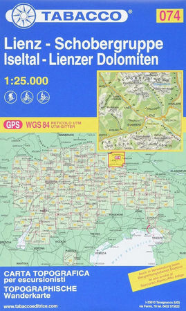 074 LIENZ SCHOBERGRUPPE ISELTAL LIENZER DOLOMITEN turystyczna 1:25 000 TABACCO (1)