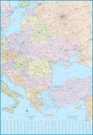 EUROPA DROGOWA I KOLEJOWA 1:3 300 000 mapa ITMB (2)
