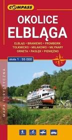 OKOLICE ELBLĄGA laminowana mapa turystyczna 1:55 000 COMPASS