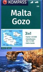MALTA GOZO mapa turystyczna 1:25 000 KOMPASS 2019