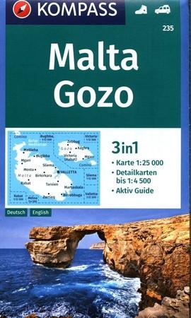 MALTA GOZO mapa turystyczna 1:25 000 KOMPASS 2019 (1)