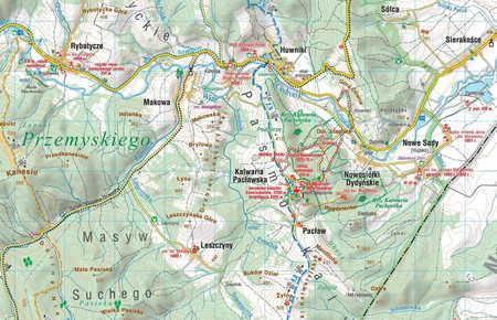 POGÓRZE PRZEMYSKIE POGÓRZE DYNOWSKIE mapa turystyczna 1:50 000 COMPASS 2020 (2)