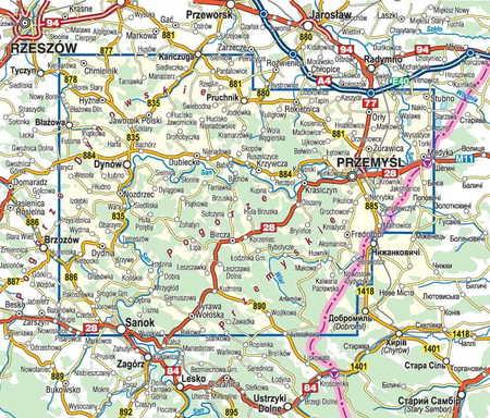 POGÓRZE PRZEMYSKIE POGÓRZE DYNOWSKIE mapa turystyczna 1:50 000 COMPASS 2020 (3)