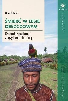 ŚMIERĆ W LESIE DESZCZOWYM - Wydawnictwo UJ 2020
