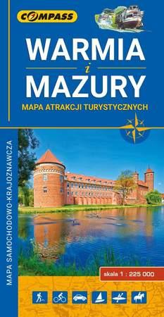 WARMIA I MAZURY 101 Atrakcji Turystycznych 1:225 000 COMPASS (1)
