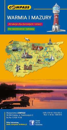 WARMIA I MAZURY 101 Atrakcji Turystycznych 1:225 000 COMPASS (2)