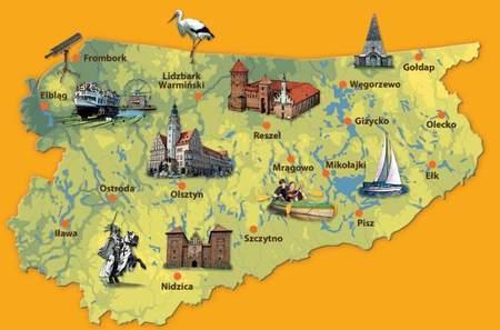 WARMIA I MAZURY 101 Atrakcji Turystycznych 1:225 000 COMPASS (3)