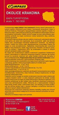 SZLAKI I TRASY ROWEROWE OKOLIC KRAKOWA mapa turystyczna 1:50 000 COMPASS 2020 (2)