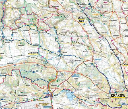 SZLAKI I TRASY ROWEROWE OKOLIC KRAKOWA mapa turystyczna 1:50 000 COMPASS 2020 (3)