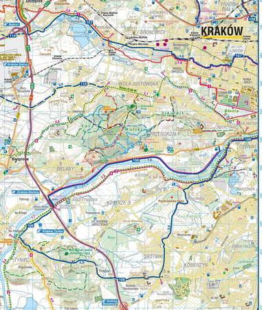 SZLAKI I TRASY ROWEROWE OKOLIC KRAKOWA mapa turystyczna 1:50 000 COMPASS 2020 (5)