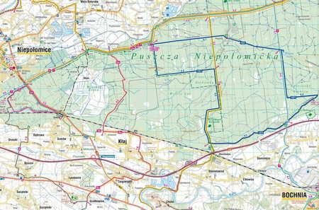 SZLAKI I TRASY ROWEROWE OKOLIC KRAKOWA mapa turystyczna 1:50 000 COMPASS 2020 (6)