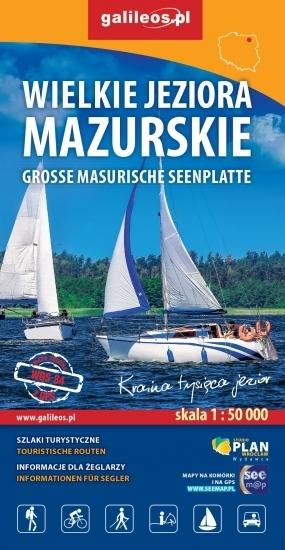 WIELKIE JEZIORA MAZURSKIE mapa turystyczna 1:50 000 STUDIO PLAN 2020 (1)