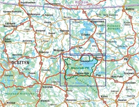 WIELKIE JEZIORA MAZURSKIE mapa turystyczna 1:50 000 STUDIO PLAN 2020 (2)