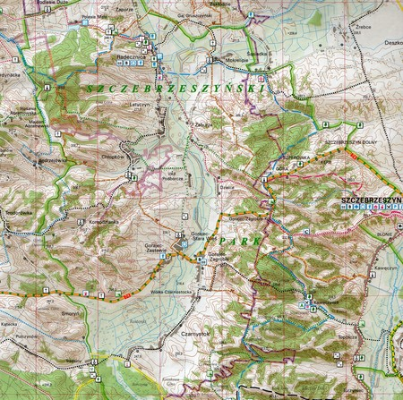 ROZTOCZE zestaw trzech map turystyczno-przyrodniczych KARTPOL (3)