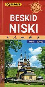 BESKID NISKI mapa turystyczna 1:50 000 COMPASS 2020