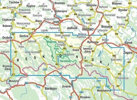 BESKID NISKI mapa turystyczna 1:50 000 COMPASS 2020 (2)