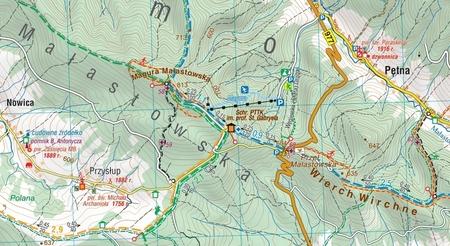 BESKID NISKI mapa turystyczna 1:50 000 COMPASS 2020 (3)