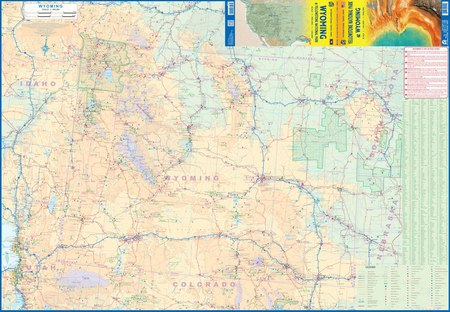 Yellowstone National Park and Wyoming mapa ITMB 2020 (3)