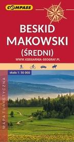 BESKID MAKOWSKI ŚREDNI mapa turystyczna 1:50 000 COMPASS 2020