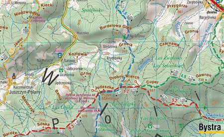 BESKID MAKOWSKI ŚREDNI mapa turystyczna 1:50 000 COMPASS 2020 (2)