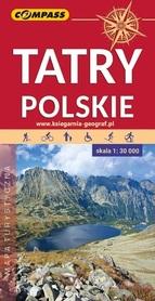 TATRY POLSKIE mapa turystyczna 1:30 000 COMPASS 2020
