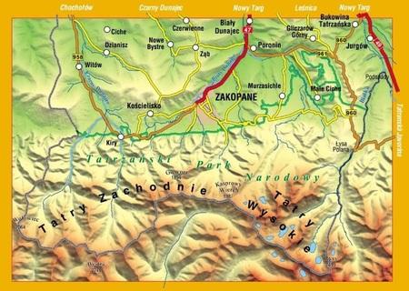 TATRY POLSKIE mapa turystyczna 1:30 000 COMPASS 2020 (2)