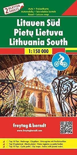 LITWA mapa rowerowa 2 arkusze PN i PD 1:150 000 Freytag & Berndt 2019 (1)