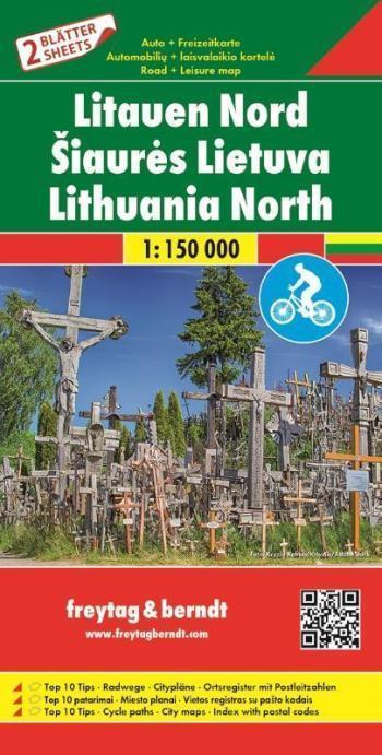 LITWA mapa rowerowa 2 arkusze PN i PD 1:150 000 Freytag & Berndt 2019 (2)