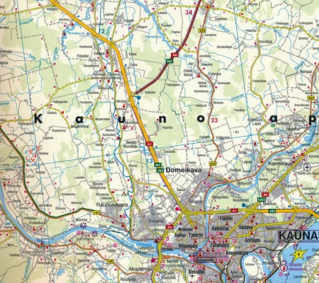 LITWA mapa rowerowa 2 arkusze PN i PD 1:150 000 Freytag & Berndt 2019 (6)