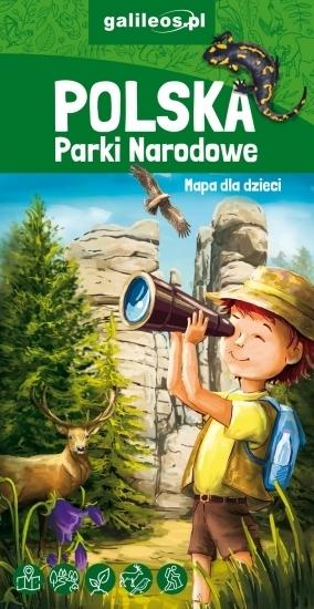 POLSKA PARKI NARODOWE mapa dla dzieci plus MEGA KOLOROWANKA STUDIO PLAN 2020 (1)