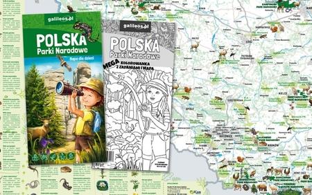 POLSKA PARKI NARODOWE mapa dla dzieci plus MEGA KOLOROWANKA STUDIO PLAN 2020 (5)