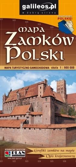 MAPA ZAMKÓW POLSKI 1:900 000 STUDIO PLAN 2019