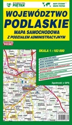 PODLASKIE mapa samochodowo - administracyjna 1:183 000 PIĘTKA