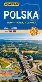POLSKA mapa samochodowa 1:650 000 COMPASS 2020