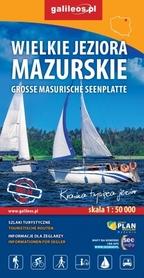 WIELKIE JEZIORA MAZURSKIE wodoodporna mapa turystyczna 1:50 000 STUDIO PLAN 2020