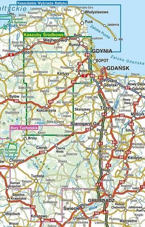 KASZUBSKIE WYBRZEŻE BAŁTYKU mapa turystyczna 1:55 000 COMPASS 2020 (2)