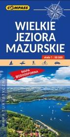WIELKIE JEZIORA MAZURSKIE mapa turystyczna laminowana COMPASS 2020