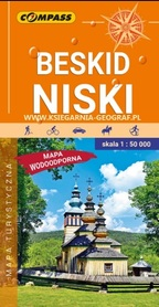 BESKID NISKI mapa turystyczna wodoodporna 1:50 000 COMPASS 2020
