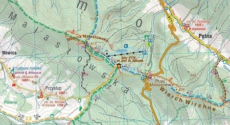BESKID NISKI mapa turystyczna wodoodporna 1:50 000 COMPASS 2020 (3)