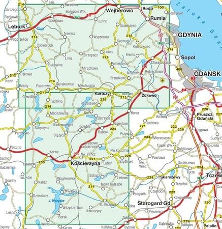 KASZUBY ŚRODKOWE mapa turystyczna laminowana 1:55 000 COMPASS 2020 (4)