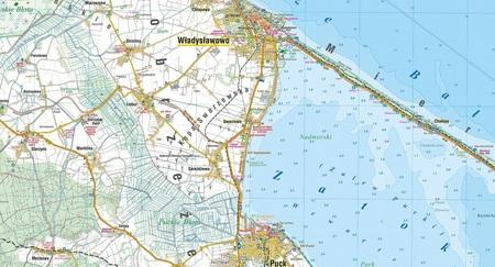 KASZUBSKIE WYBRZEŻE BAŁTYKU mapa turystyczna laminowana 1:55 000 COMPASS 2020 (3)